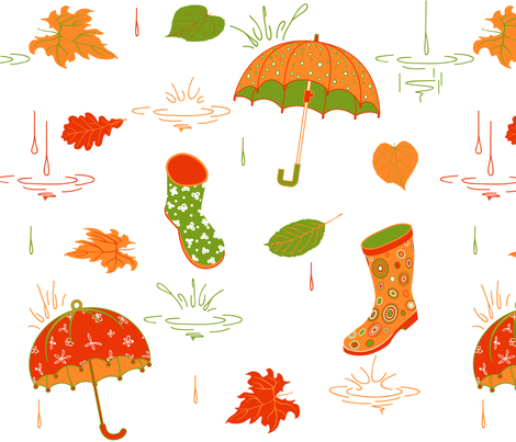 Autumn pattern fabric by yaskii on Spoonflower - custom fabric