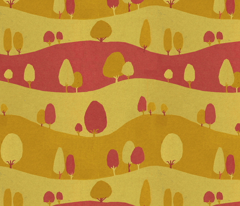 Trees fabric by philippa_rice on Spoonflower - custom fabric