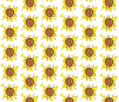 Sun Flower fabric by annalisa222 on Spoonflower - custom fabric