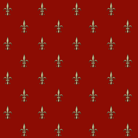 ©2011 fleur de lis 2010  red fabric by glimmericks on Spoonflower - custom fabric