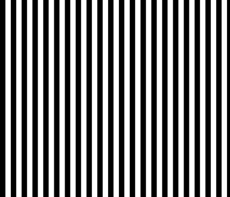 black and white half inch stripe fabric by littlemisscrow on Spoonflower - custom fabric