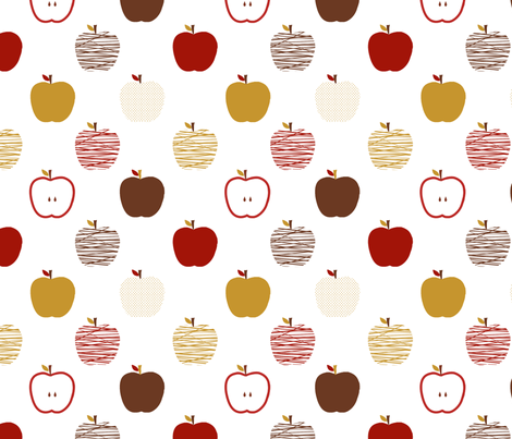 Autumn Apples fabric by jpdesigns on Spoonflower - custom fabric