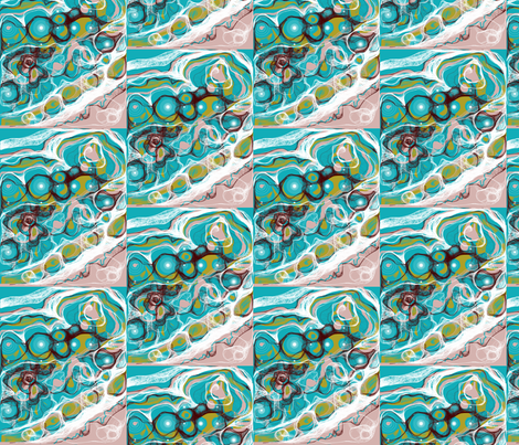 Teal Stream fabric by dssheck on Spoonflower - custom fabric