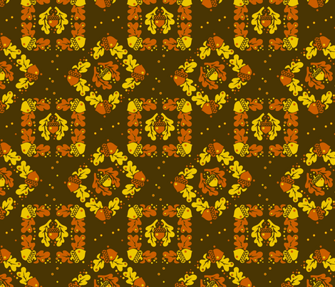 Oak leaves and acorns fabric by hannafate on Spoonflower - custom fabric