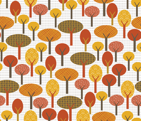 autumn forest fabric by babysisterrae on Spoonflower - custom fabric