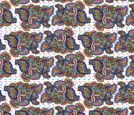 Paisley Cat 2 fabric by eclectic_house on Spoonflower - custom fabric