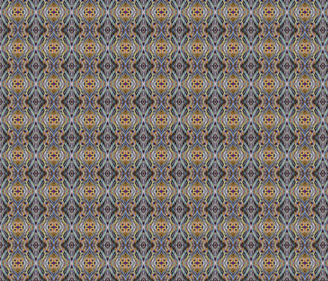 Psychedelic Peacock fabric by tresreneestudio on Spoonflower - custom fabric