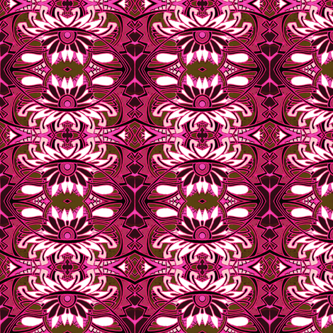 Raspberry and Chocolate Poinsettia fabric by edsel2084 on Spoonflower - custom fabric