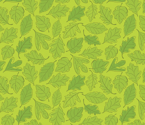 Spring Leaves fabric by wildnotions on Spoonflower - custom fabric