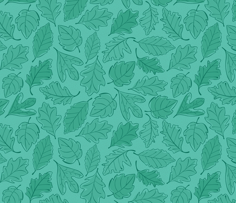 Summer Leaves fabric by wildnotions on Spoonflower - custom fabric