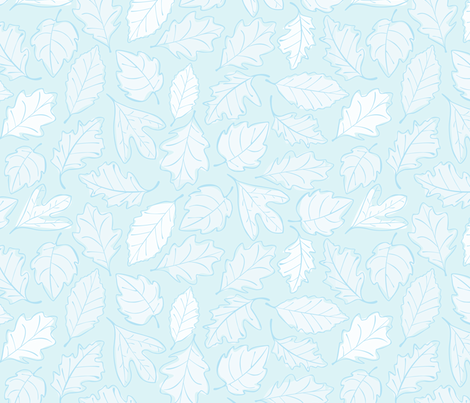 Winter Leaves fabric by wildnotions on Spoonflower - custom fabric