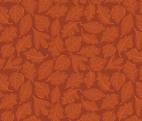 Autumn Leaves fabric by wildnotions on Spoonflower - custom fabric