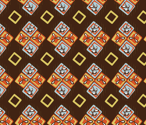 Coffee Diamonds fabric by gsonge on Spoonflower - custom fabric
