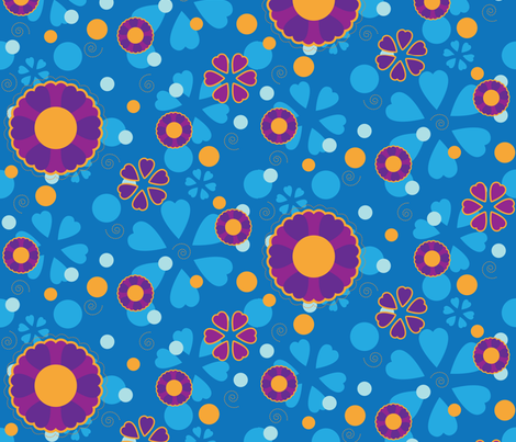 Groovy Flowers fabric by robyriker on Spoonflower - custom fabric