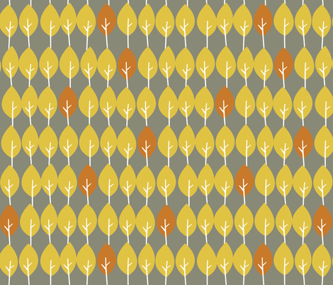 fall line-up fabric by juliannlaw on Spoonflower - custom fabric