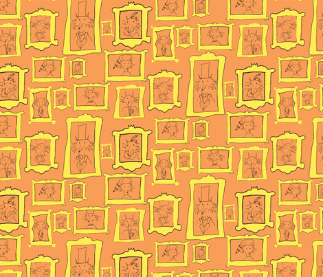 Mr. Fox's Family Tree - orange fabric by annaz on Spoonflower - custom fabric