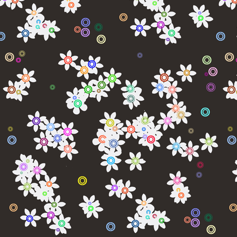Sprinkled Flowers-ed fabric by boris_thumbkin on Spoonflower - custom fabric