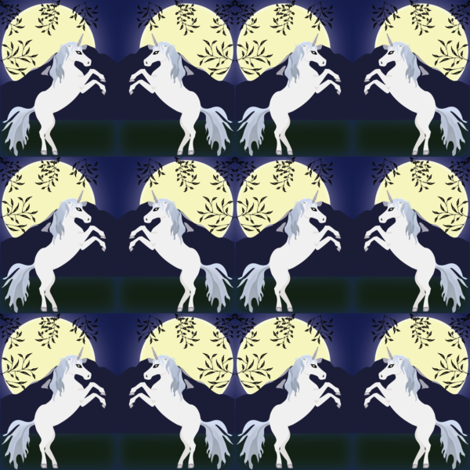 Unicorn Night fabric by brandymiller on Spoonflower - custom fabric