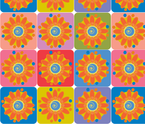 Pop Garden fabric by sarah_nussbaumer on Spoonflower - custom fabric