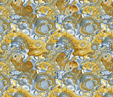 Marble blue & honey fabric by ravynka on Spoonflower - custom fabric