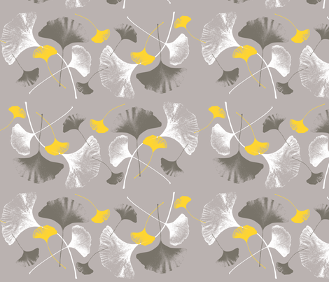 Ginkgo Leaves fabric by yooliadesign on Spoonflower - custom fabric