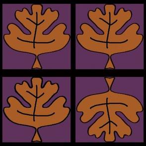 Purply Oak Leaf
