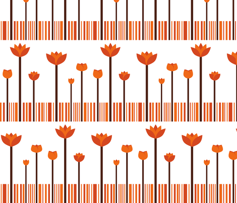 autumn garden fabric by suziedesign on Spoonflower - custom fabric
