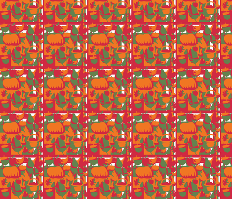 Shrunk_autumnal_copy fabric by scifiwritir on Spoonflower - custom fabric
