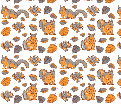 Autumn fabric by nikishor on Spoonflower - custom fabric