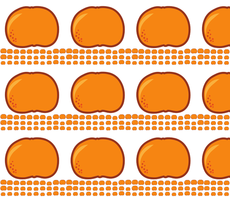 orange fabric by suziedesign on Spoonflower - custom fabric