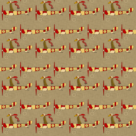 flight_school_aircraft_small fabric by holli_zollinger on Spoonflower - custom fabric