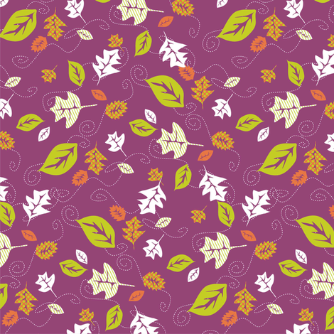 Falling Leaves fabric by lulakiti on Spoonflower - custom fabric