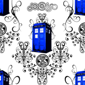 TARDIS Travels Damask