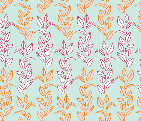 leaves fabric by mrshervi on Spoonflower - custom fabric