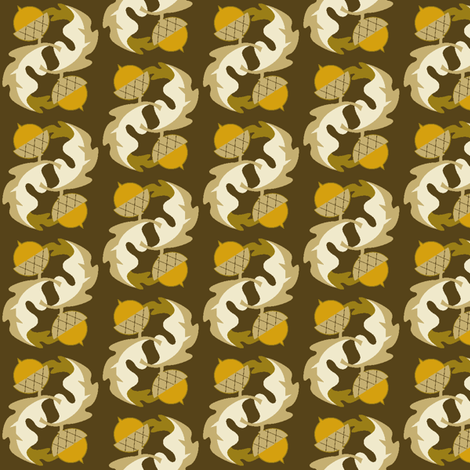 acorn & oak leaf fabric by cindy_lindgren on Spoonflower - custom fabric