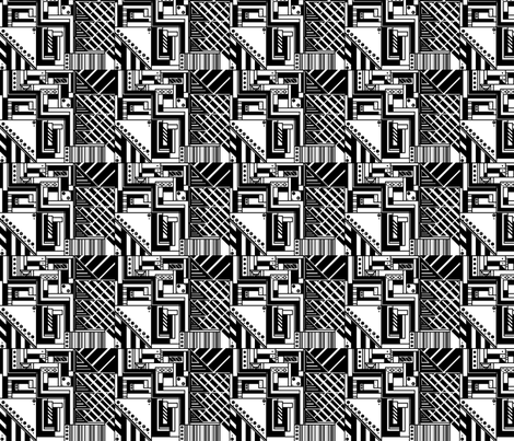 black and white fabric by allgeek on Spoonflower - custom fabric