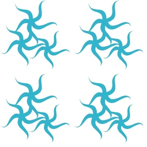 Starfish Dance Linen Turquoise