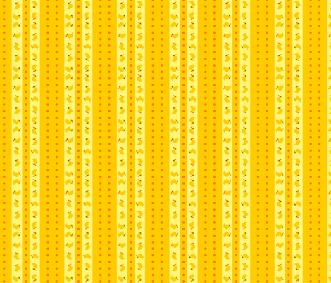 Stripes and Dots - Rubber Ducky fabric by glimmericks on Spoonflower - custom fabric