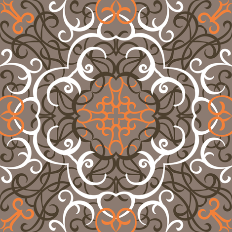 Autumn Lace fabric by jillianmorris on Spoonflower - custom fabric