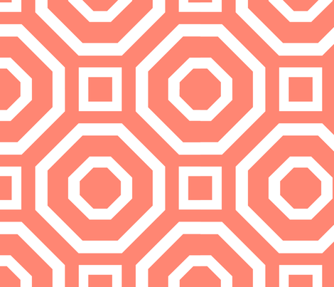 Geometry Coral fabric by alicia_vance on Spoonflower - custom fabric