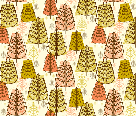 Autumn (White) fabric by pennycandy on Spoonflower - custom fabric