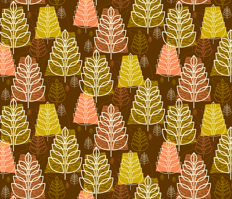 Autumn (Brown) fabric by pennycandy on Spoonflower - custom fabric