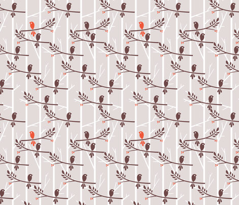 Autumn to Winter fabric by ttoz on Spoonflower - custom fabric
