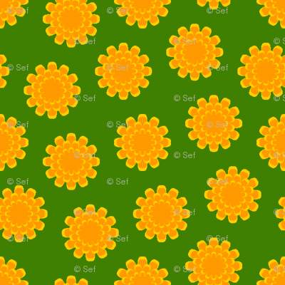 a myriad of marigolds