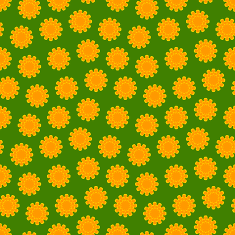 a myriad of marigolds fabric by sef on Spoonflower - custom fabric
