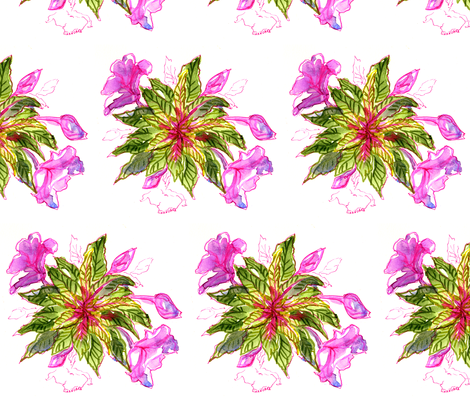 Balsam Bouquets by Alexandra Cook fabric by linandara on Spoonflower - custom fabric