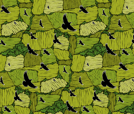As the Crow Flies- Summer fabric by ceanirminger on Spoonflower - custom fabric
