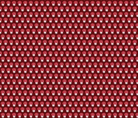 Little red mushroom fabric by bora on Spoonflower - custom fabric