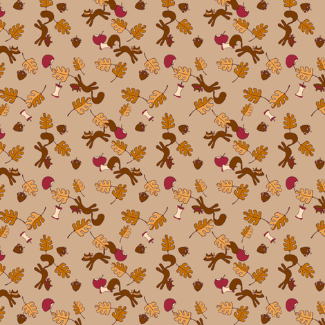 The Apple Thieves fabric by beckarahn on Spoonflower - custom fabric