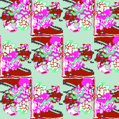 Zig-Zag Floral Abstract